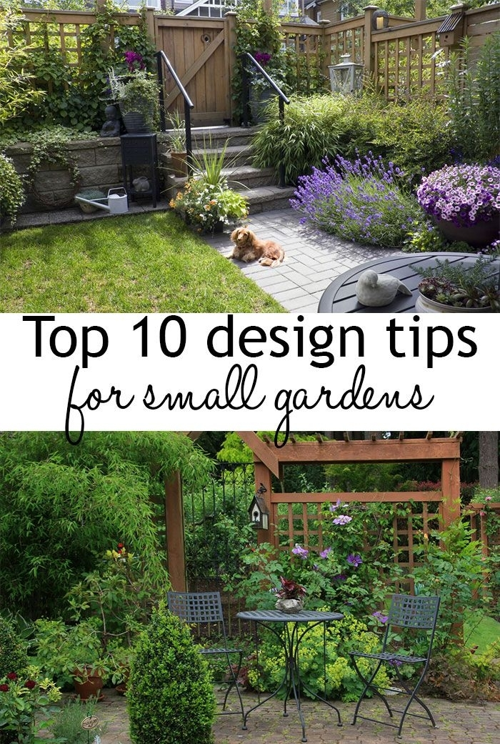 17 Best Ideas About Small Living Rooms On Pinterest: Garden Design Tips For Small Gardens