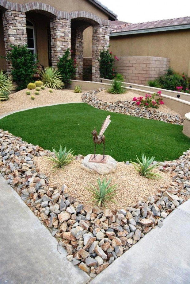 28 Beautiful Small Front Yard Garden Design Ideas - Style Motivation intended for Rock Garden Ideas For Front Yard