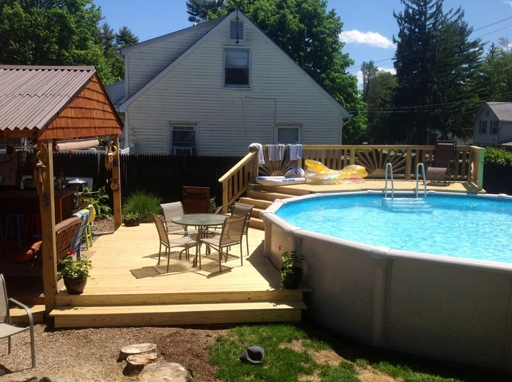 Backyard Above Ground Pool Landscaping Ideas   Above Ground Pools throughout Small Backyard Landscaping Ideas With Above Ground Pool