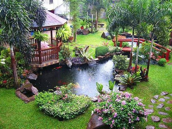 Beautiful Backyard Ponds And Water Garden Ideas within Garden Pond Ideas For Small Gardens