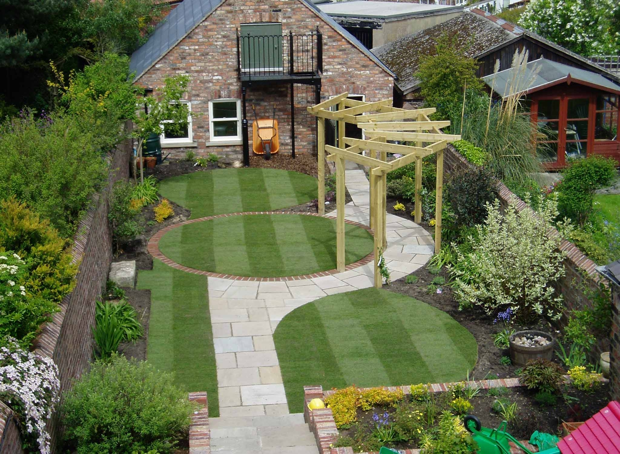 Beautiful Residential Landscape Architecture Backyard With Pergola within Best Layout For Small Garden Design Ideas Design Ideas