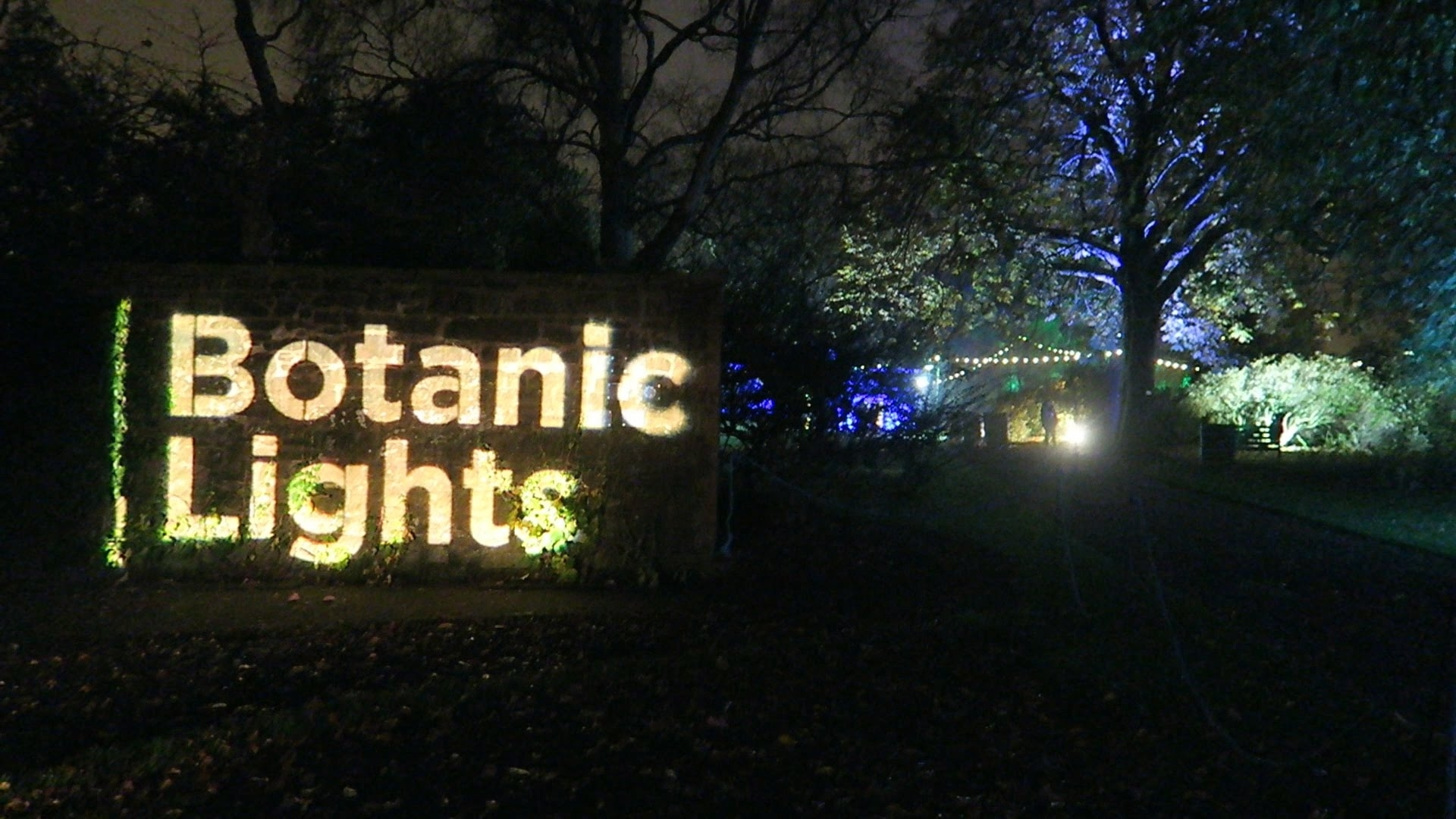 Botanic Lights 2015 - Royal Botanic Gardens, Edinburgh - Youtube regarding Botanic Garden Edinburgh Light Show