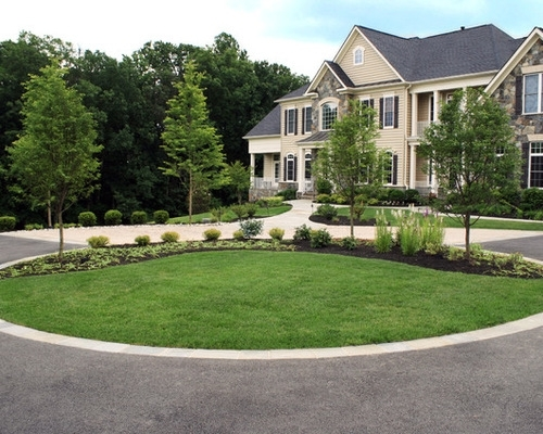Front Yard Circle Drive Landscape Ideas, Designs, Remodels & Photos in Landscaping Ideas For Front Yard Circle Drive