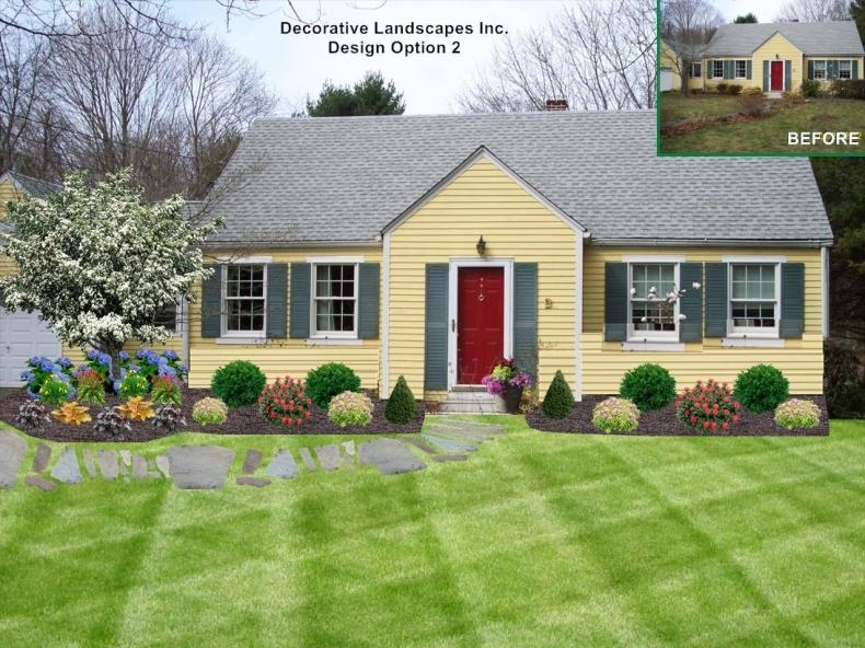 Front Yard Lanscaping Ideas For Small Homes: Small Front Yard with Front Yard Landscaping Ideas For Small Homes