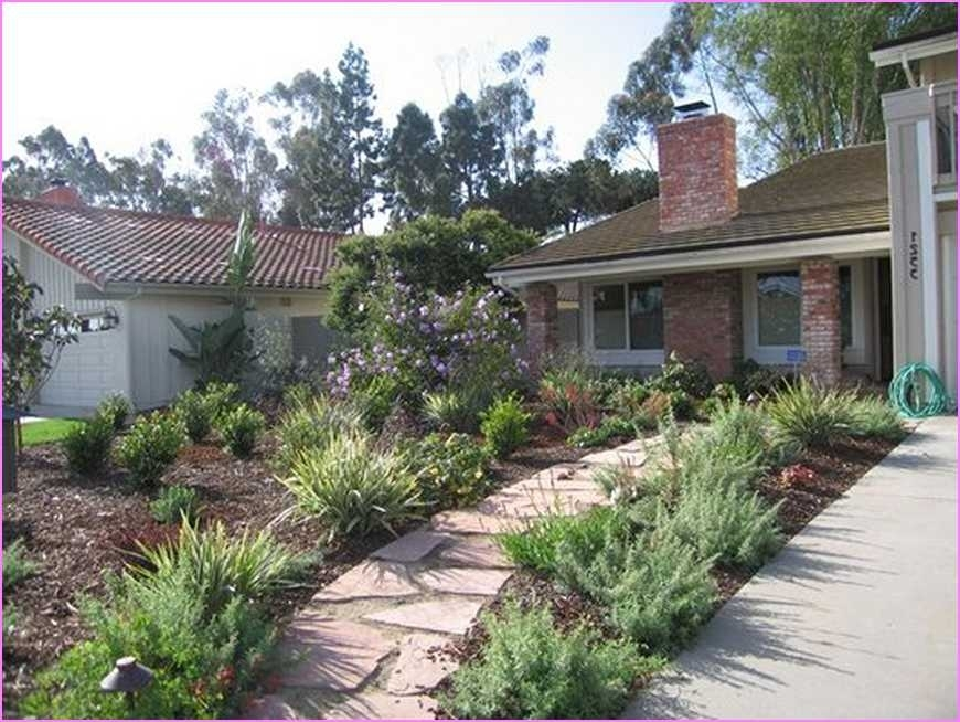 Landscaping ideas for front yard no grass garden design for No maintenance front yard