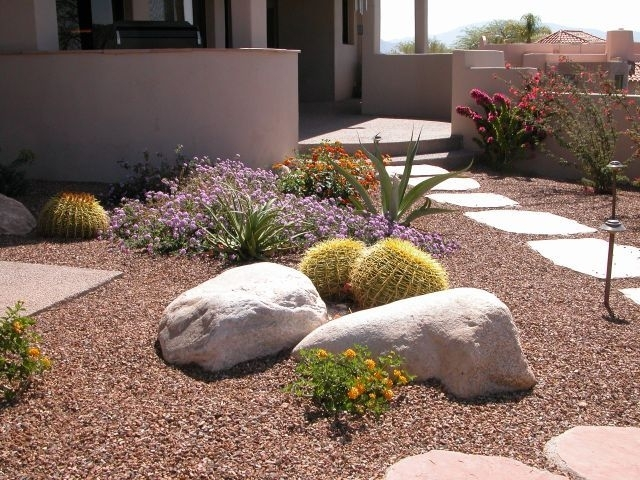 Landscaping ideas for small front yards without grass for Small landscape grasses