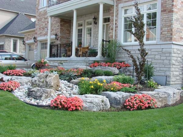 Frontyard Landscaping throughout Rock Garden Ideas For Front Yard