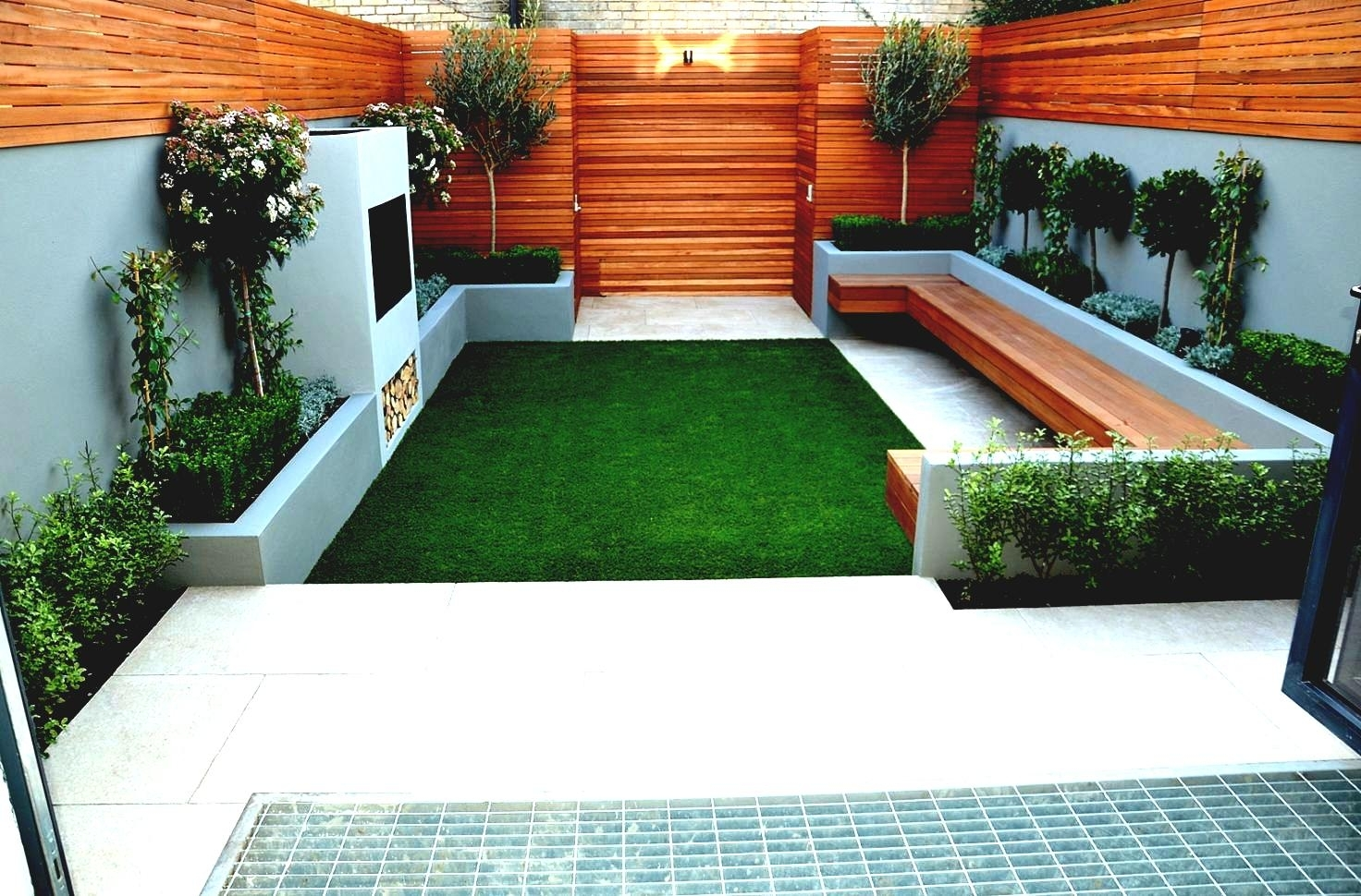 Paving ideas for small back gardens garden design for Back garden landscaping ideas