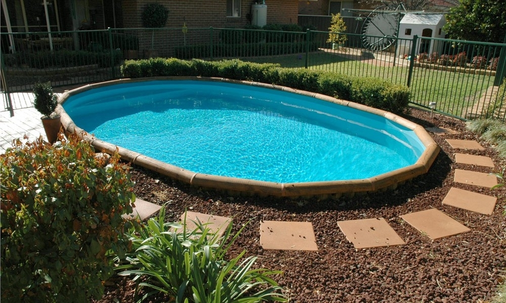 Ideas Above Ground Pool Landscaping — Landscape Design Ideas within Small Backyard Landscaping Ideas With Above Ground Pool