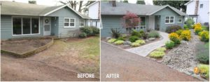 Landscaping Front Of Ranch House   Related For Front Yard in Front Sidewalk Landscaping Ideas