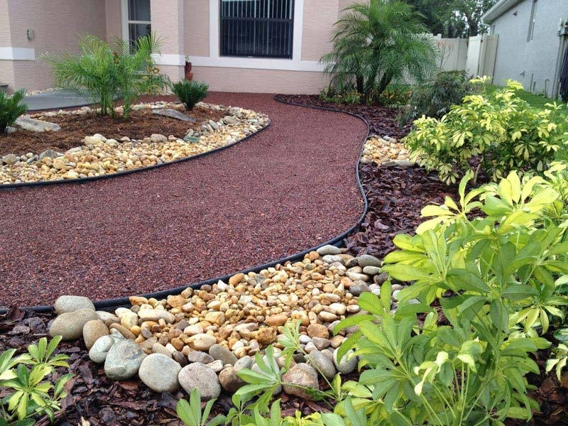 Landscaping ideas for front yard no grass front yard for No lawn garden designs