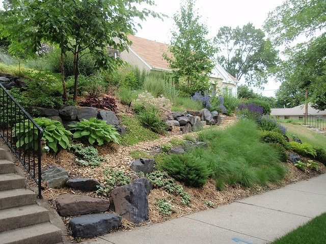Landscaping Ideas For Slopes | Front Yard Slope Solution intended for Landscaping Ideas For Front Yard With Slope
