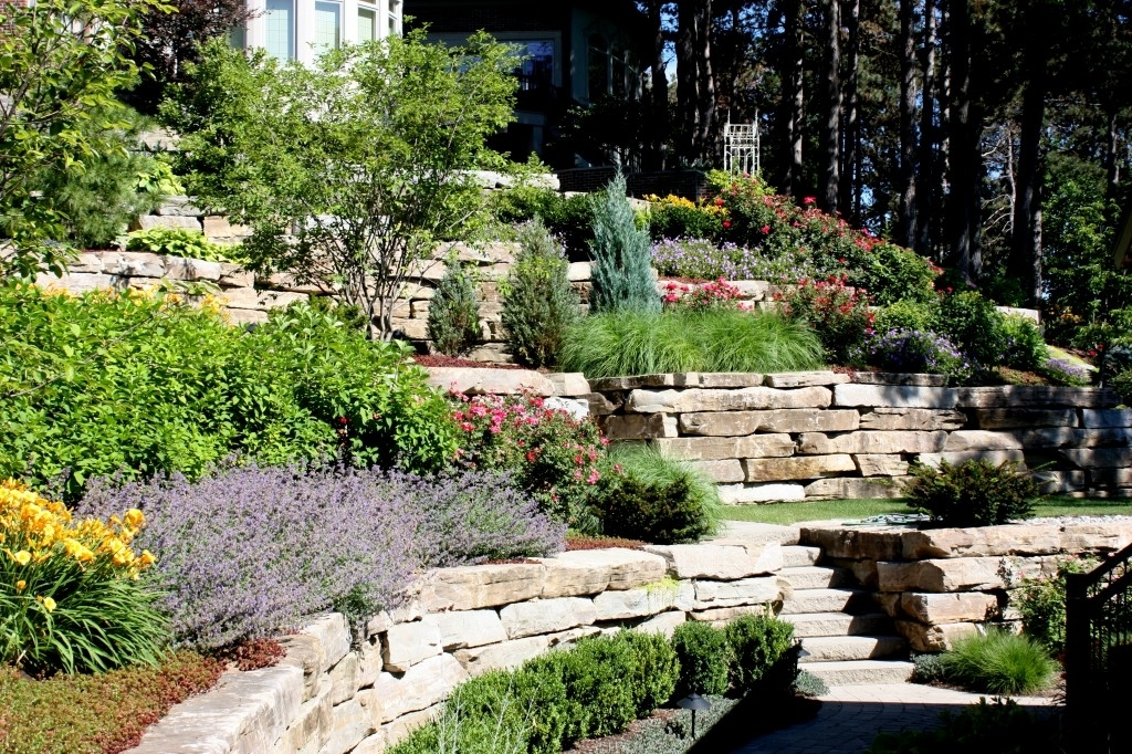 landscaping ideas for front yard hill garden design