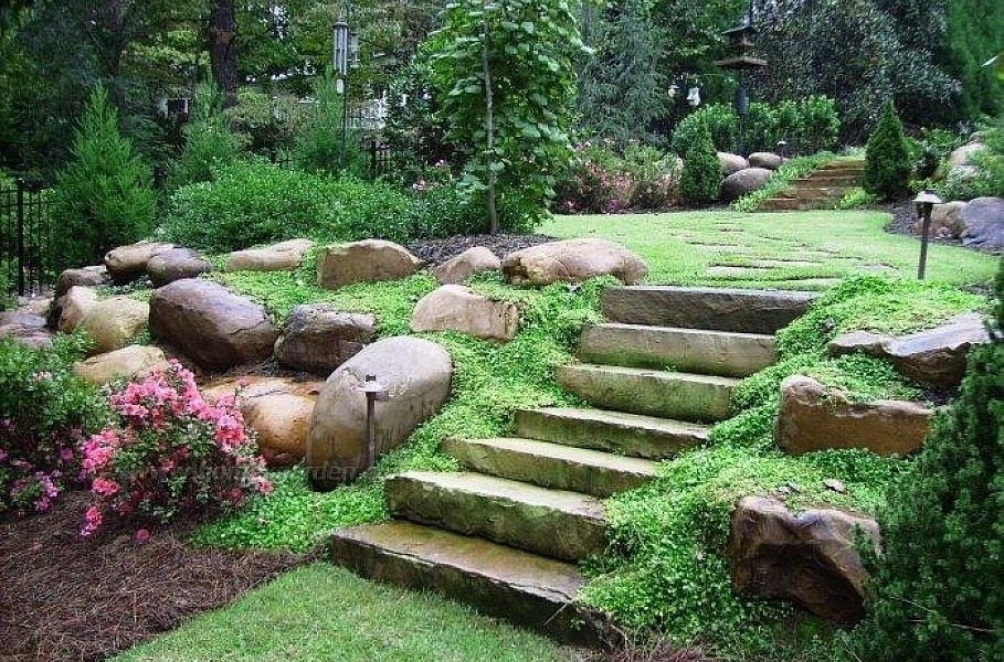 Landscaping Ideas Front Yard | The Landscape Design with regard to Landscaping Ideas For Front Yard Hill