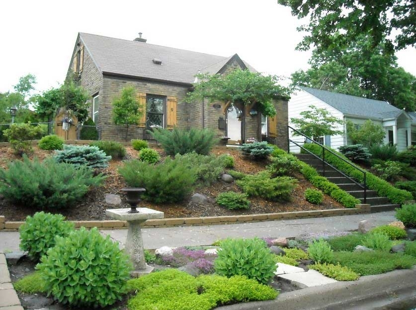 Landscaping Large Front Yard With Slope And Trees - Google Search inside Landscaping Ideas For Front Yard Hill