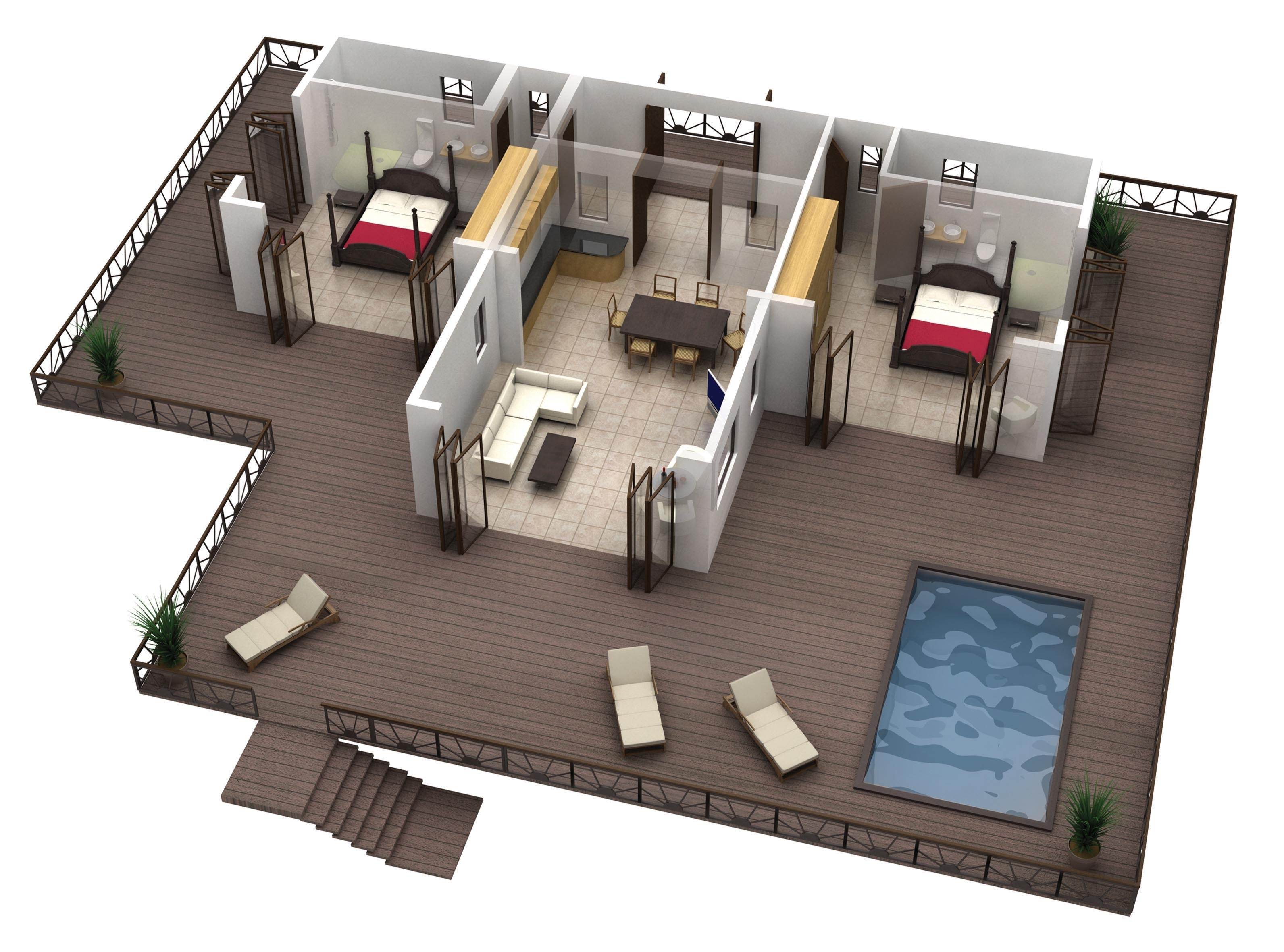 Lovely Modern Designs For Apartment Bedrooms With Black Closet in Best Layout For Garden Vista Apartments Design Ideas