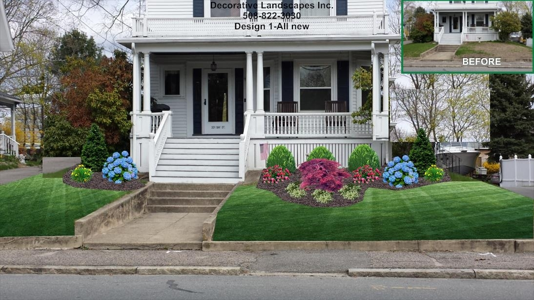 Old Style Colonial Front Bed Landscape Design, Ma | Front Of Home inside Landscaping Ideas For Front Yard For Older Homes