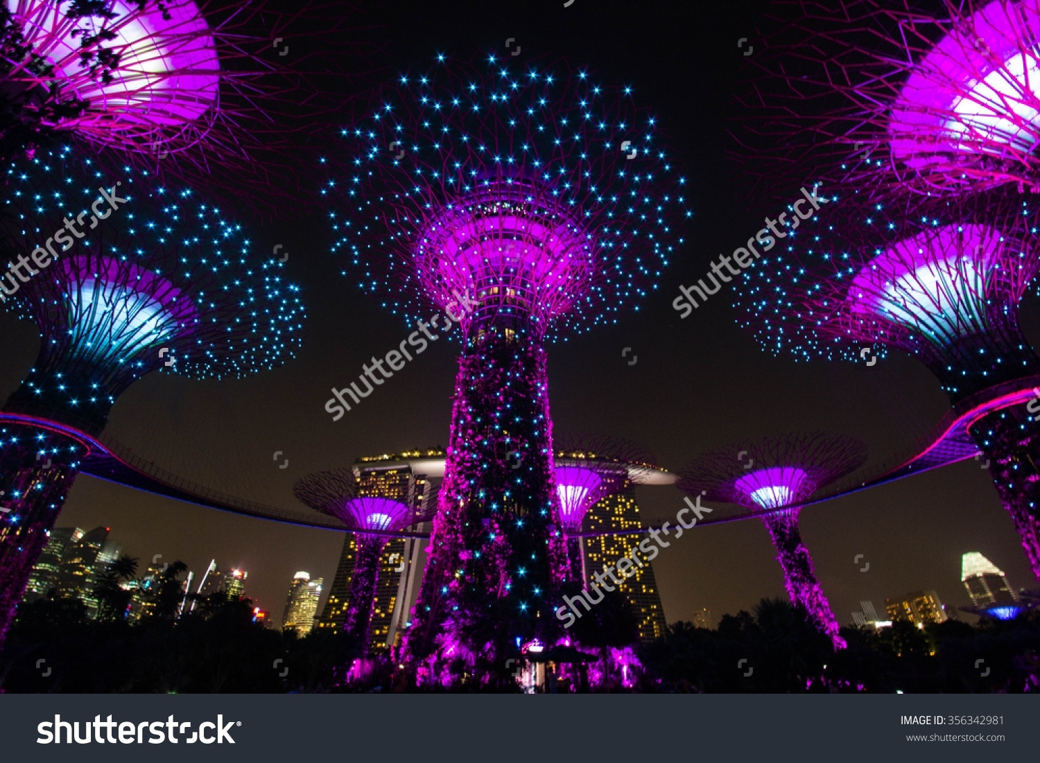Royalty-Free Singapore-October 15:night View Of … #356342981 Stock throughout Garden Rhapsody Light And Sound Show