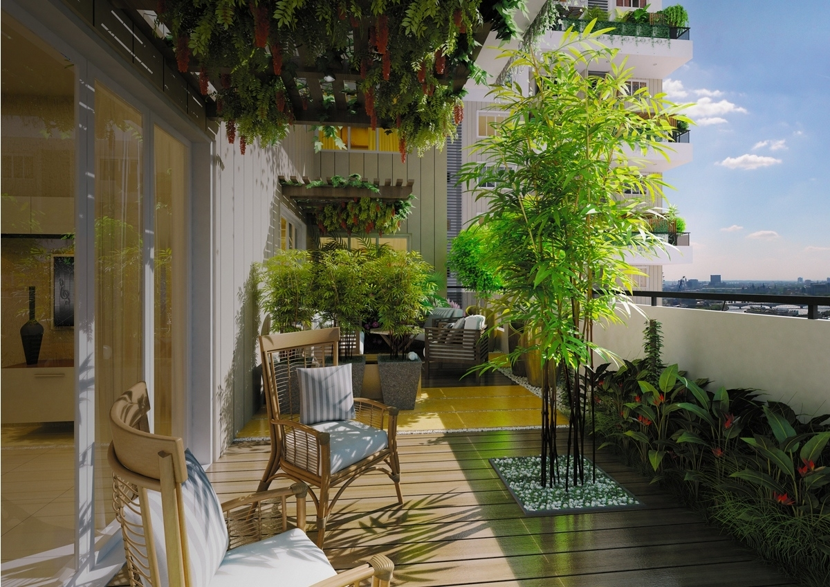 Rustic Apartment Balcony Small Porch Decorating Ideas Intended For Terrace Garden