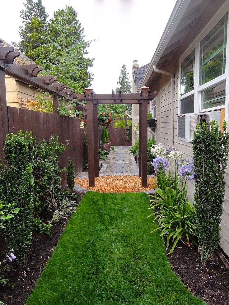 17 Best Images About Narrow Side Yard Ideas On Pinterest | Arbors with regard to Landscaping Ideas For Narrow Side Yard