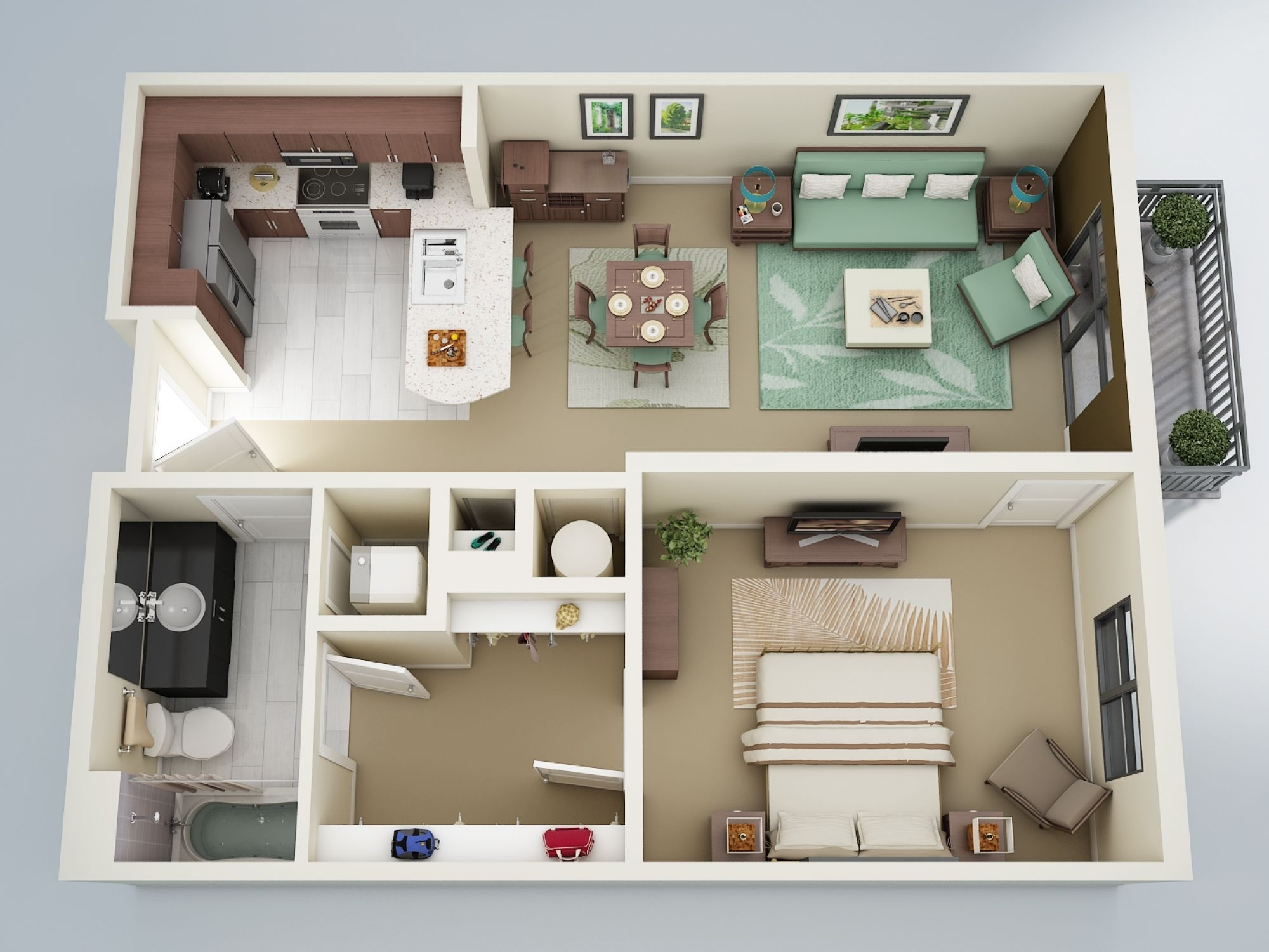 25+ Best Ideas About One Bedroom Apartments On Pinterest | One within Best Layout For Park Garden Apartments Design Ideas