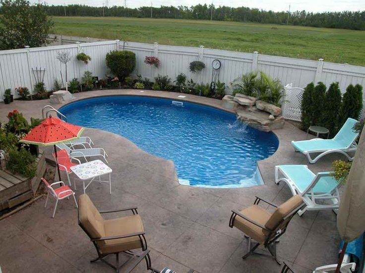 25+ Best Ideas About Small Backyard Pools On Pinterest | Small with Landscape Design Small Backyard With Pool