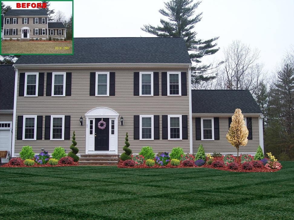 45 Best Images About Front Of Home Landscape Designs On Pinterest regarding Landscaping Ideas For Front Yard Of Colonial