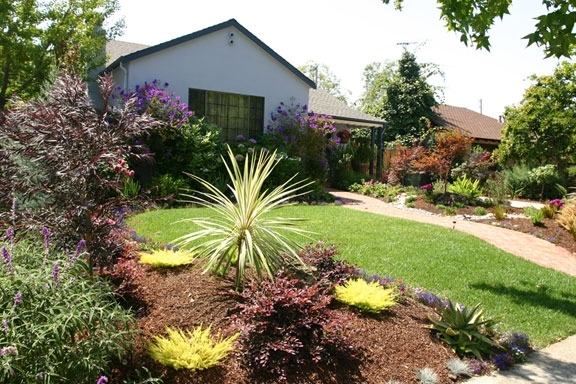 Drought Tolerant Landscaping Ideas California | Brick Path And inside Landscaping Ideas Front Yard Drought Tolerant