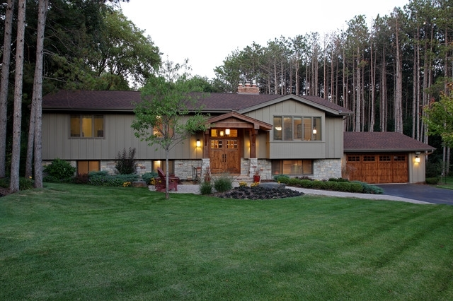 Exterior - Traditional - Exterior - Minneapolis - By Knight with regard to Landscaping Ideas For Front Yard Of Split-Level Home
