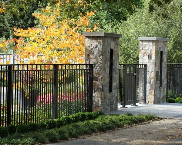 Fences | Front Yards, Design And House Landscape with Landscaping Ideas For Front Yard Fence