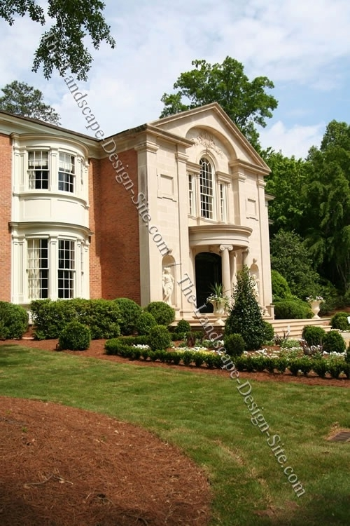 Formal Colonial Front Yard pertaining to Landscaping Ideas For Front Yard Of Colonial
