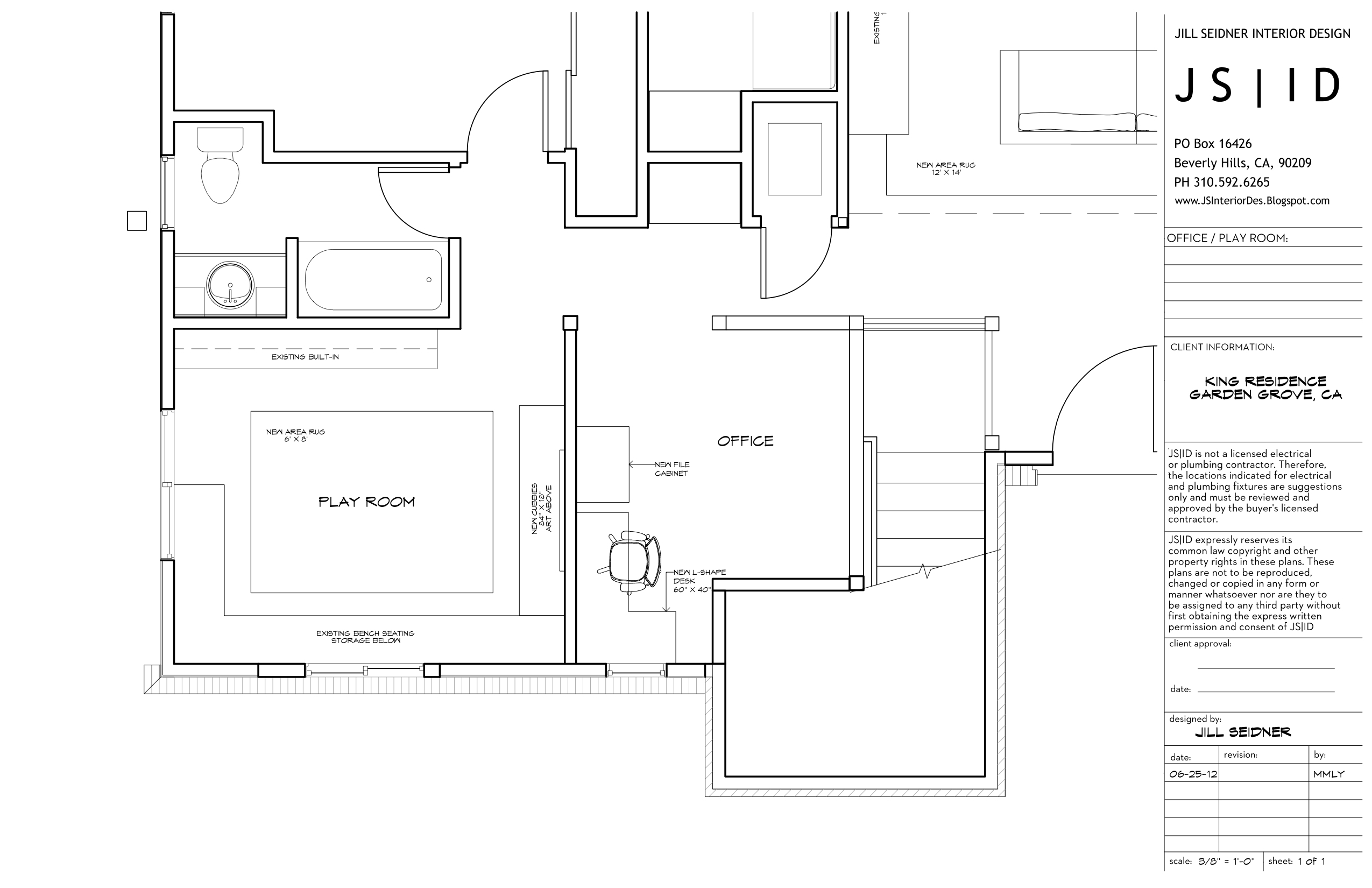 Garden Grove, Ca Residence, Office & Playroom Furniture Floor Plan throughout Best Layout For Apartments In Garden Grove Ca Design Ideas