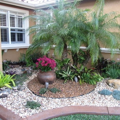 Landscape Palm Tree Design Ideas, Pictures, Remodel And Decor for Landscaping Ideas For Front Yard With Palm Trees