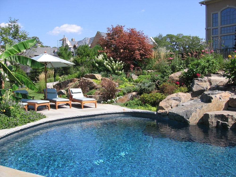 Landscaping Ideas By Nj Custom Pool & Backyard Design Expert with Landscape Design Small Backyard With Pool