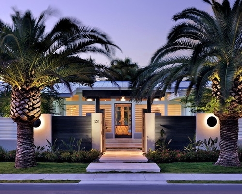 Palm Trees In Front Yards Design Ideas & Remodel Pictures   Houzz inside Landscaping Ideas For Front Yard With Palm Trees