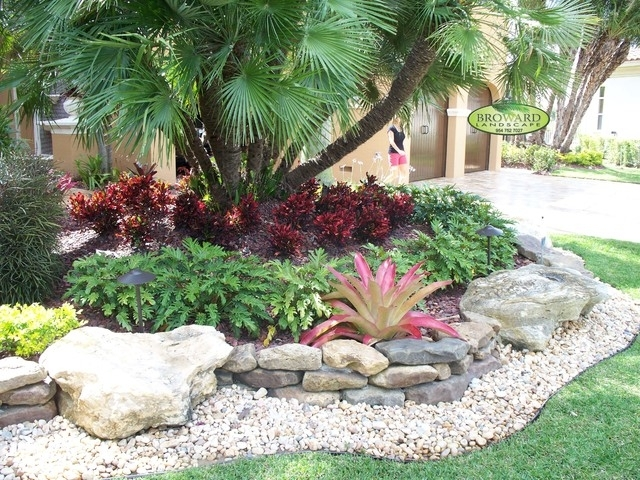 Rock Yard Landscaping | No Grass Front Yard Ideas | Bountiful with Tropical Landscaping Ideas Small Front Yard