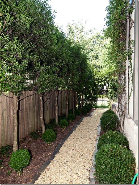 Side Yard Pathway. I Like How It's Not A Perfectly Straight Path regarding Landscaping Ideas For Small Side Yards