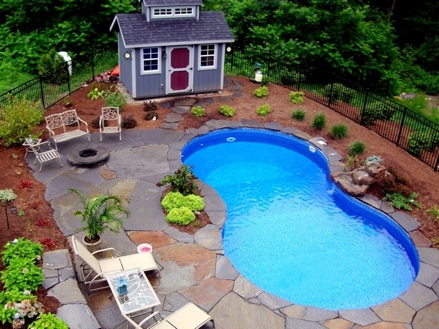 Small Backyard Inexpensive Pool | Roselawnlutheran intended for Small Backyard Landscaping Ideas With Pool