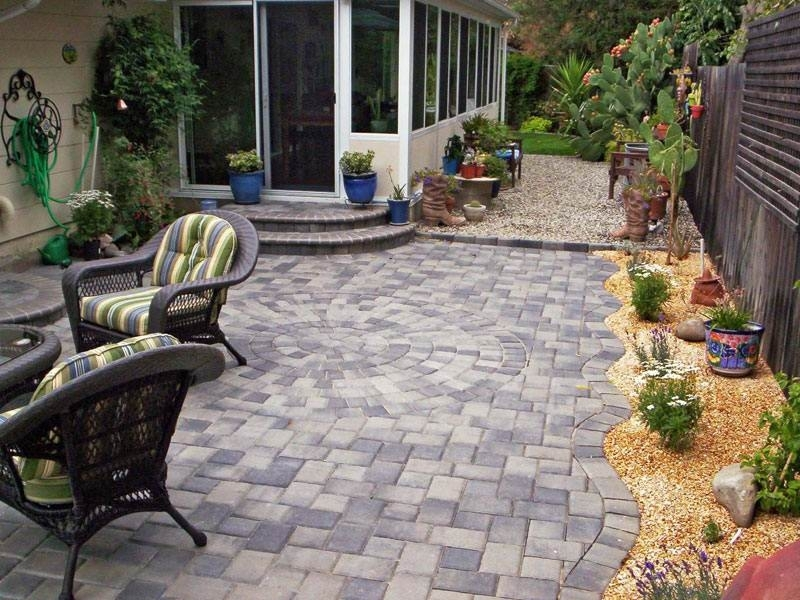 Paving ideas for small front gardens garden design for Small garden paving designs