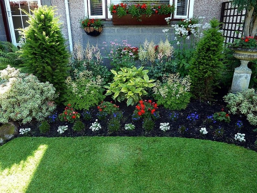 130 Simple, Fresh And Beautiful Front Yard Landscaping Ideas in Garden Designs For The Front Yard