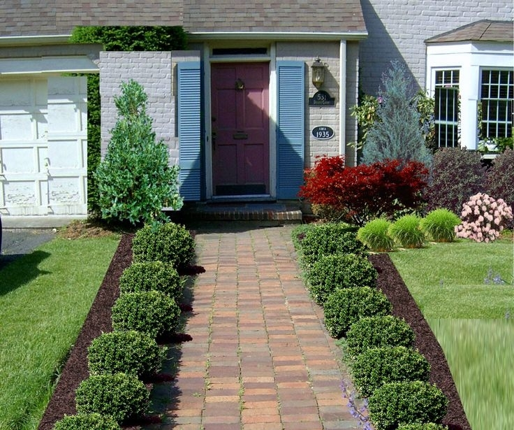 25+ Best Front Walkway Landscaping Ideas On Pinterest | Sidewalk with regard to Landscaping Ideas For Front Yard Walkway