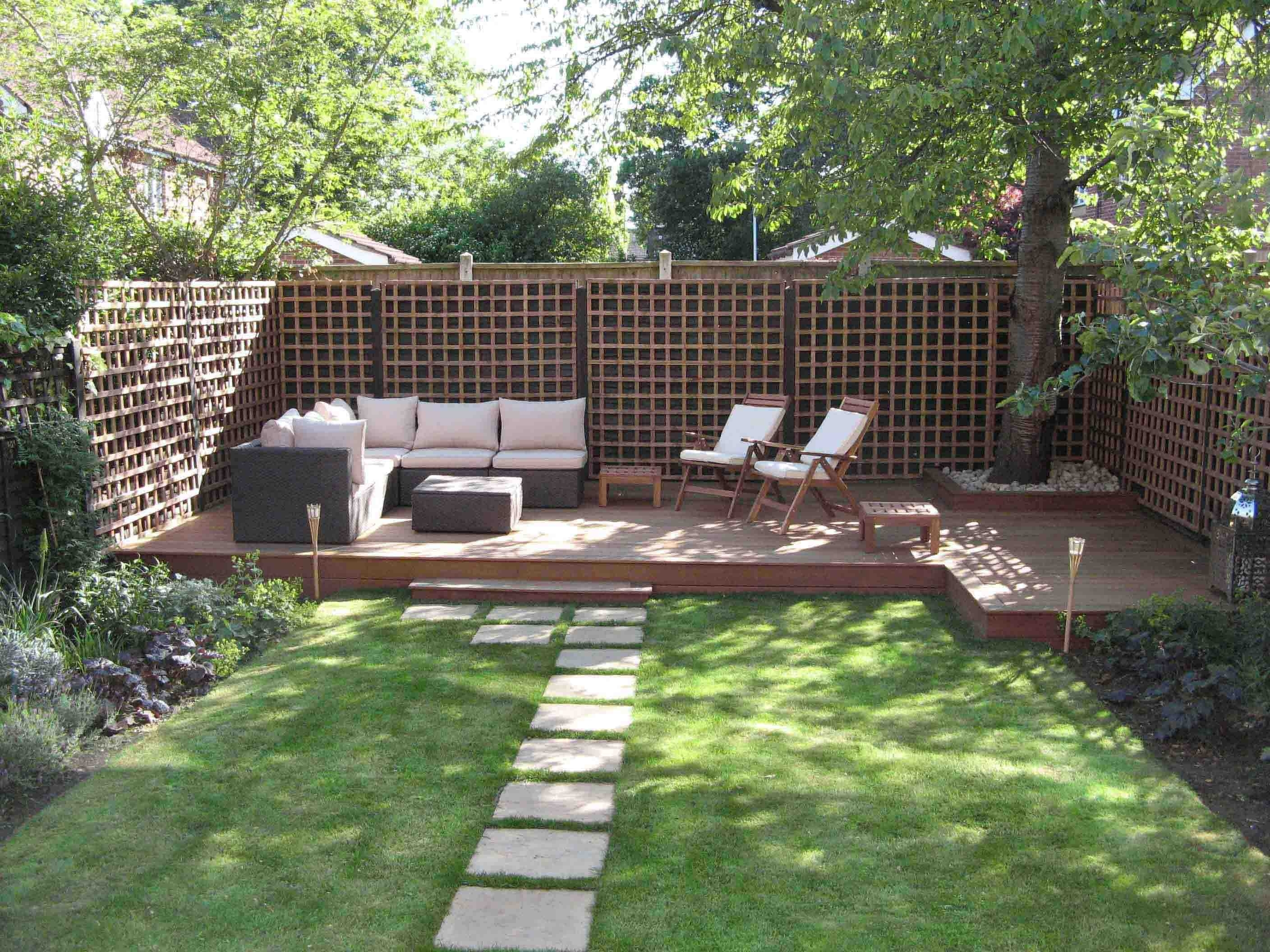25 Landscape Design For Small Spaces   Low Deck, Yards And Decking pertaining to Small Garden Design Ideas