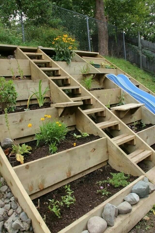 68 Best Slope & Terraced Gardens Images On Pinterest pertaining to Landscaping Ideas For Small Sloping Gardens