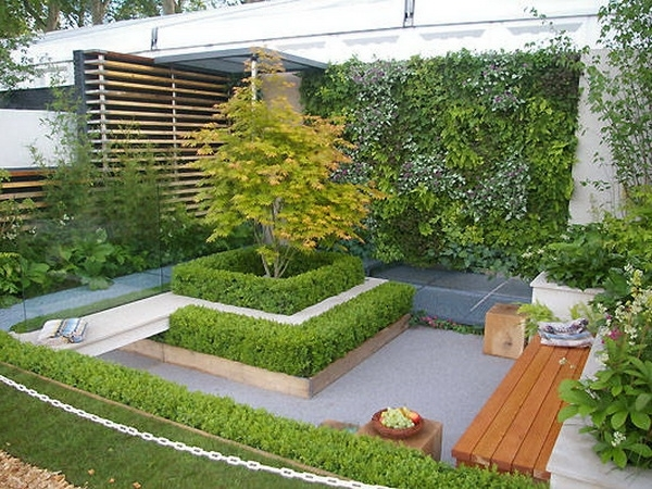 Adorable Small Front Garden Landscape Ideas With Square Pertaining To Design For