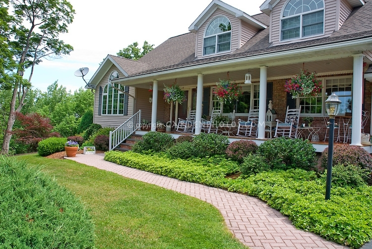 Attractive Shrub Ideas For Front Of House Porch Landscaping With Regard To