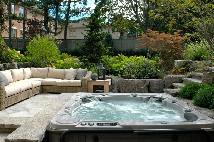 Backyard Patio Ideas For Small Spaces On A Budget With Hot Tub regarding Small Garden Ideas With Hot Tub