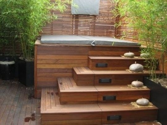 Best 25+ Backyard Hot Tubs Ideas Only On Pinterest   Diy Hottub in Small Garden Ideas With Hot Tub