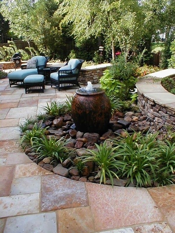 Best 25+ Garden Water Features Ideas Only On Pinterest | Water throughout Landscaping Ideas Front Yard Water Feature