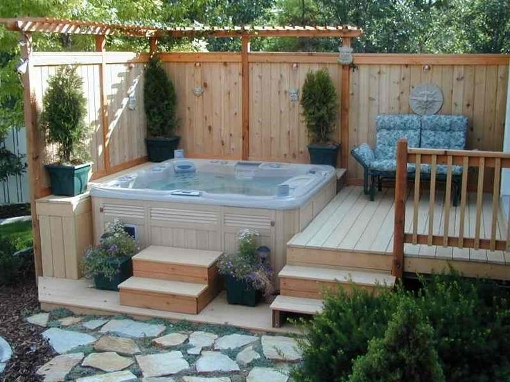 Best 25+ Hot Tubs Landscaping Ideas On Pinterest   Hot Tubs regarding Small Garden Ideas With Hot Tub