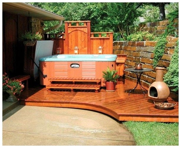 Best 25+ Hot Tubs Landscaping Ideas On Pinterest   Hot Tubs with regard to Small Garden Ideas With Hot Tub